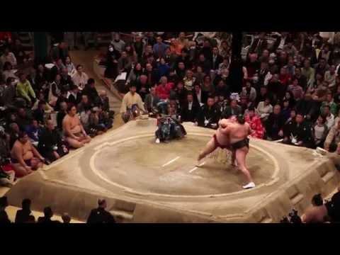 Sumo Wrestling at Ryogoku Kokugikan Tokyo, Japan 2015