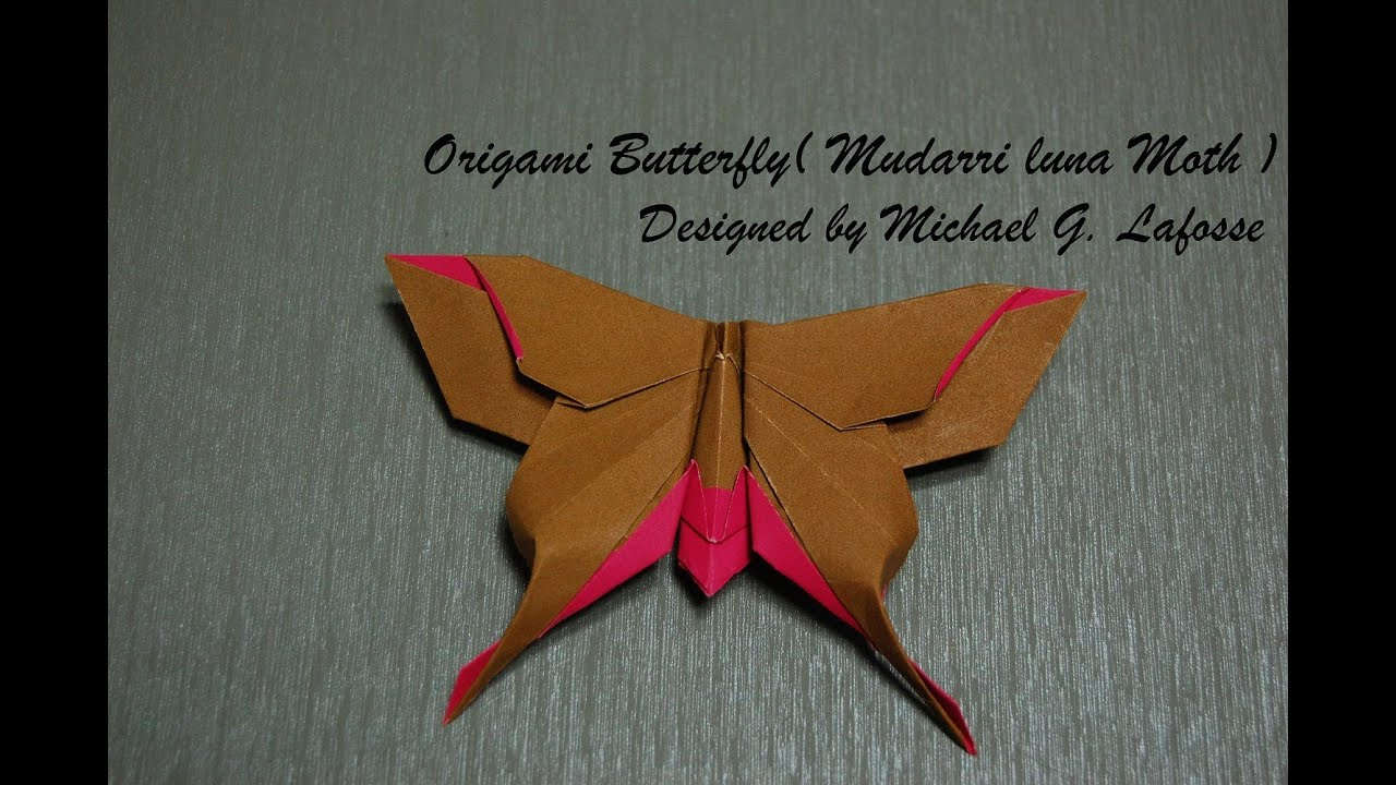 Origami Butterfly (Michael G. Lafosse) - How to fold an ... - photo#22