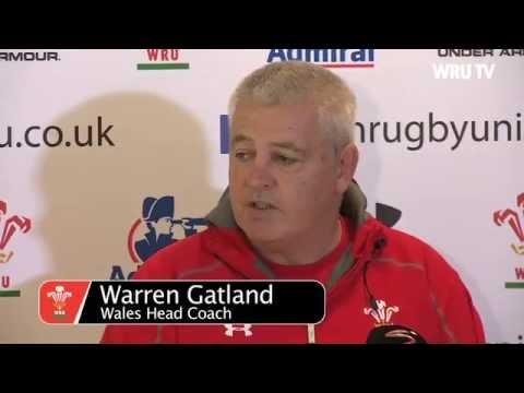 Warren Gatland names South Africa team 2014 test 1   WRU TV