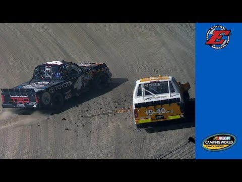 Christopher Bell gets loose in Stage 1 at Eldora