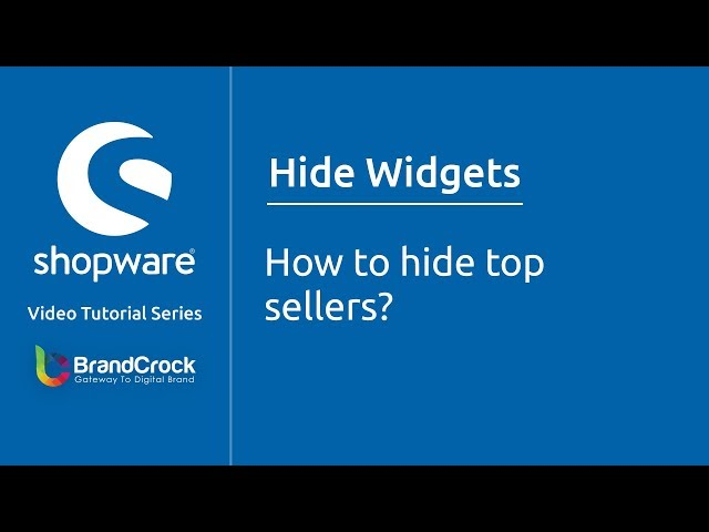 Shopware tutorials : How to hide top sellers?