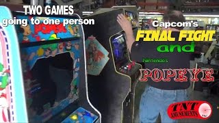 #847 Capcom Final Fight & Nintendo Popeye Arcade Video Games! Tnt Amusements