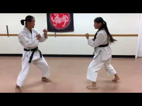 Jiyu ippon kumite preformed by Mia & Evy