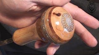 Как сделать оригинальную  ручку скоростей из дерева .How to make an original wooden speed knob.