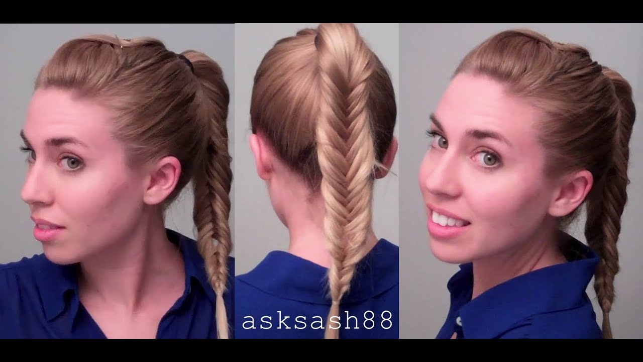 Fishtail Braid Ponytail    Easy Quick Everyday Hairstyles For Long Hair And  Medium Hair   YouTube