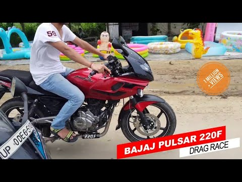 DRAG RACE - YAMAHA R15 v2.0 VS PULSAR 220F 2017 Drag race