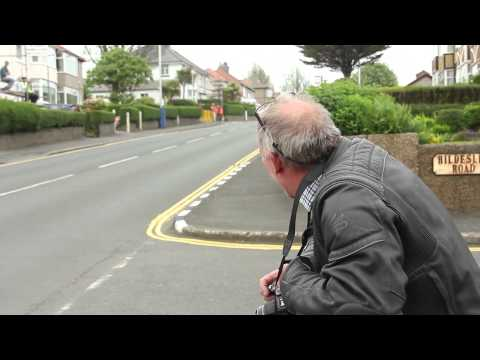 Dads reaction to racers - Isle Of Man TT 2014