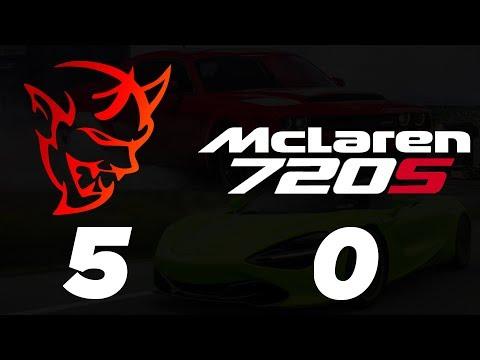 I beat the McLaren 720s in 2 different Demons 😈 | Dodge Demon vs McLaren 720s 1/4 Mile Drag Race