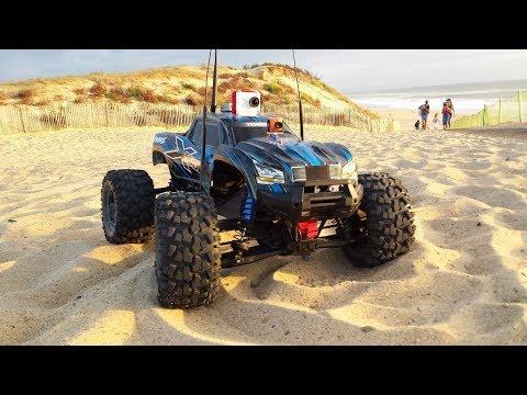 RC CAR PRANKS BEACH FPV - TRAXXAS STAMPEDE CAM ONBOARD