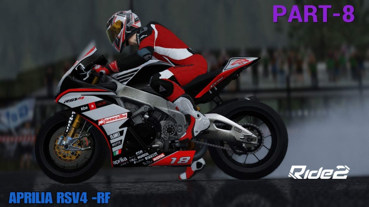 ride 2 ps4 gameplay part 8 aprilia rsv4 rain avl on. Black Bedroom Furniture Sets. Home Design Ideas