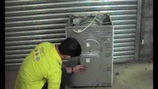 how to diagnose a heating problem on condenser tumble dryer and how to replace the heating element