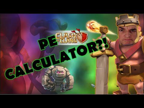 CUM SA JOCI CLASH OF CLANS PE CALCULATOR!
