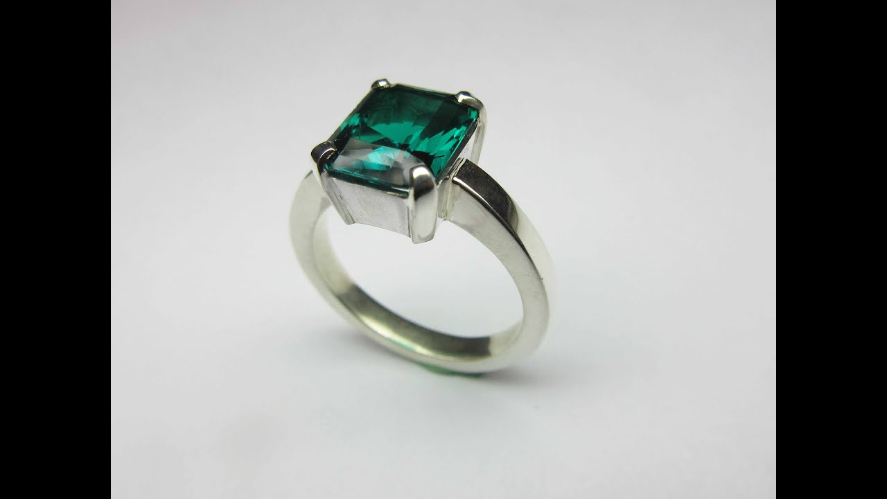 cz rhodium mens cut ring emerald product merchandise w blue service