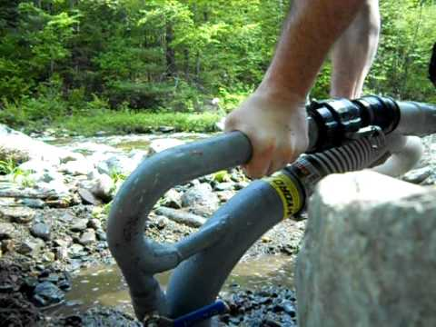 Hydro-Force 300 test run.  Yankee Gold Prospecting New England