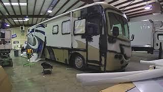 Freightliner Motorhome  Custom RV Wrapped In Avery Dennison (TimeLapse)