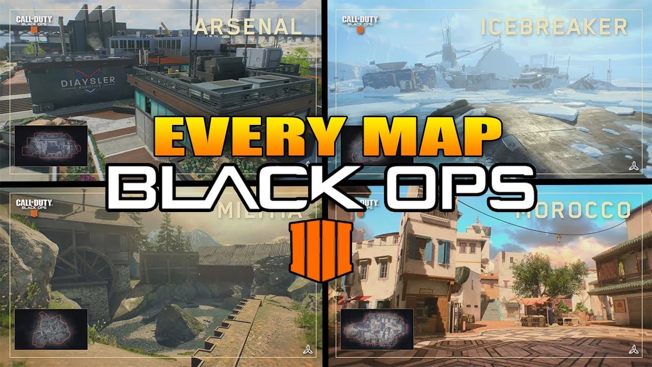 Every Map In Call of Duty Black Ops 4 (COD BO4 All Maps) on smallest map cod, smallest halo map, smallest map in advanced warfare,