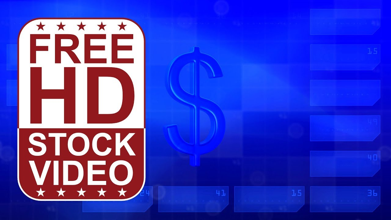 free hd video backgrounds - blue hi tech digital background with 3d
