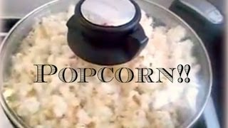 How to make oil and butter free popcorn