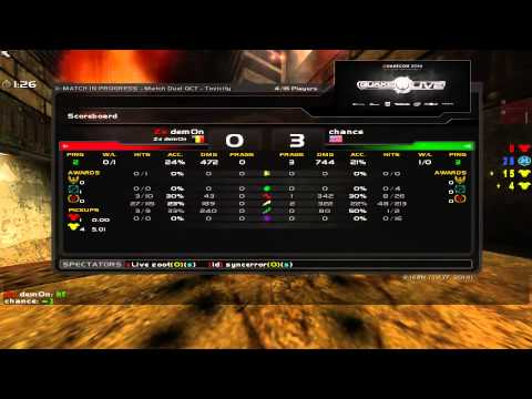 chance vs dem0n - Quakecon 2014 Group C Round 1 (Quake Live VOD)