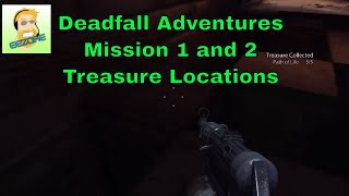 DeadFall Adventures: Mission 1 and 2 guide for treasures, plus achievements