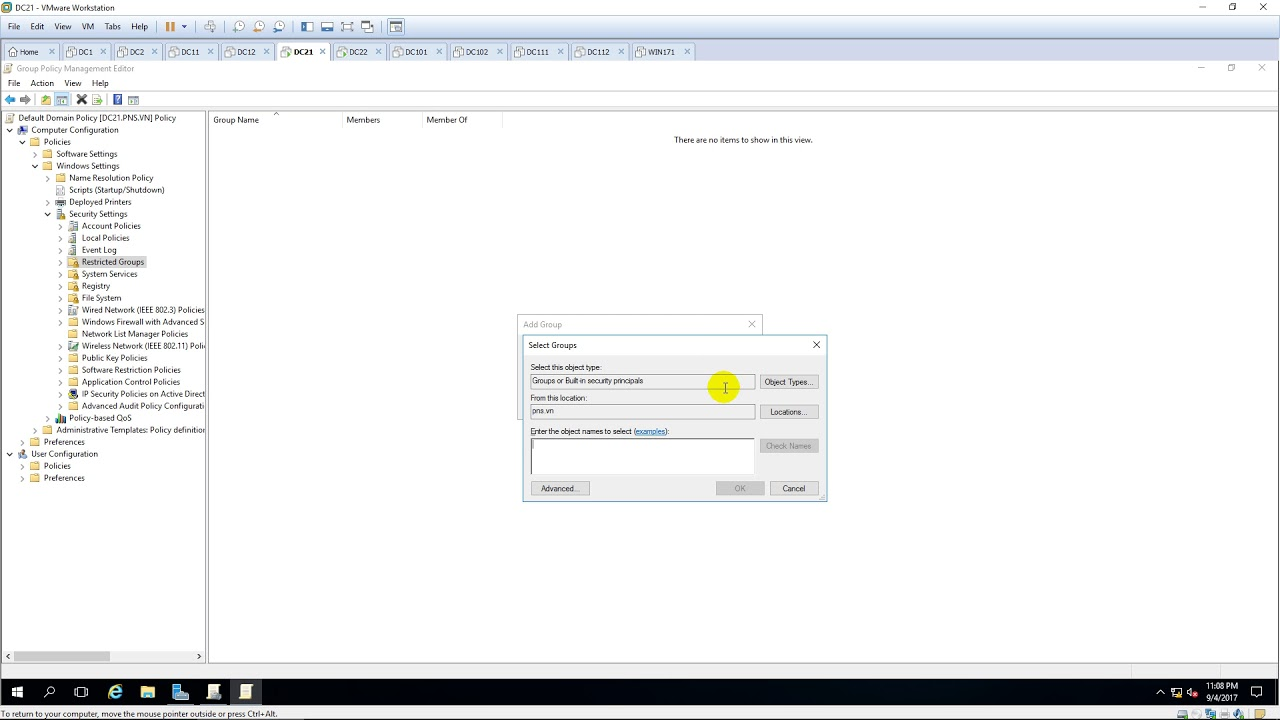 Add Domain users to local administrators via GPO