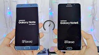 Samsung Galaxy NOTE FE vs NOTE 5 - Speed Test! (4K)