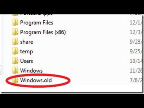 Comment Supprimer Windows.old