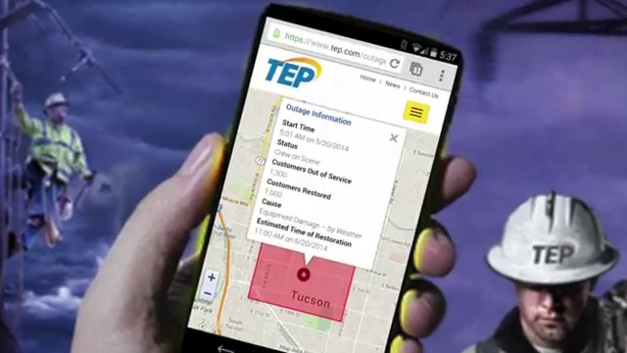 Tep S Outage Center And Map Youtube