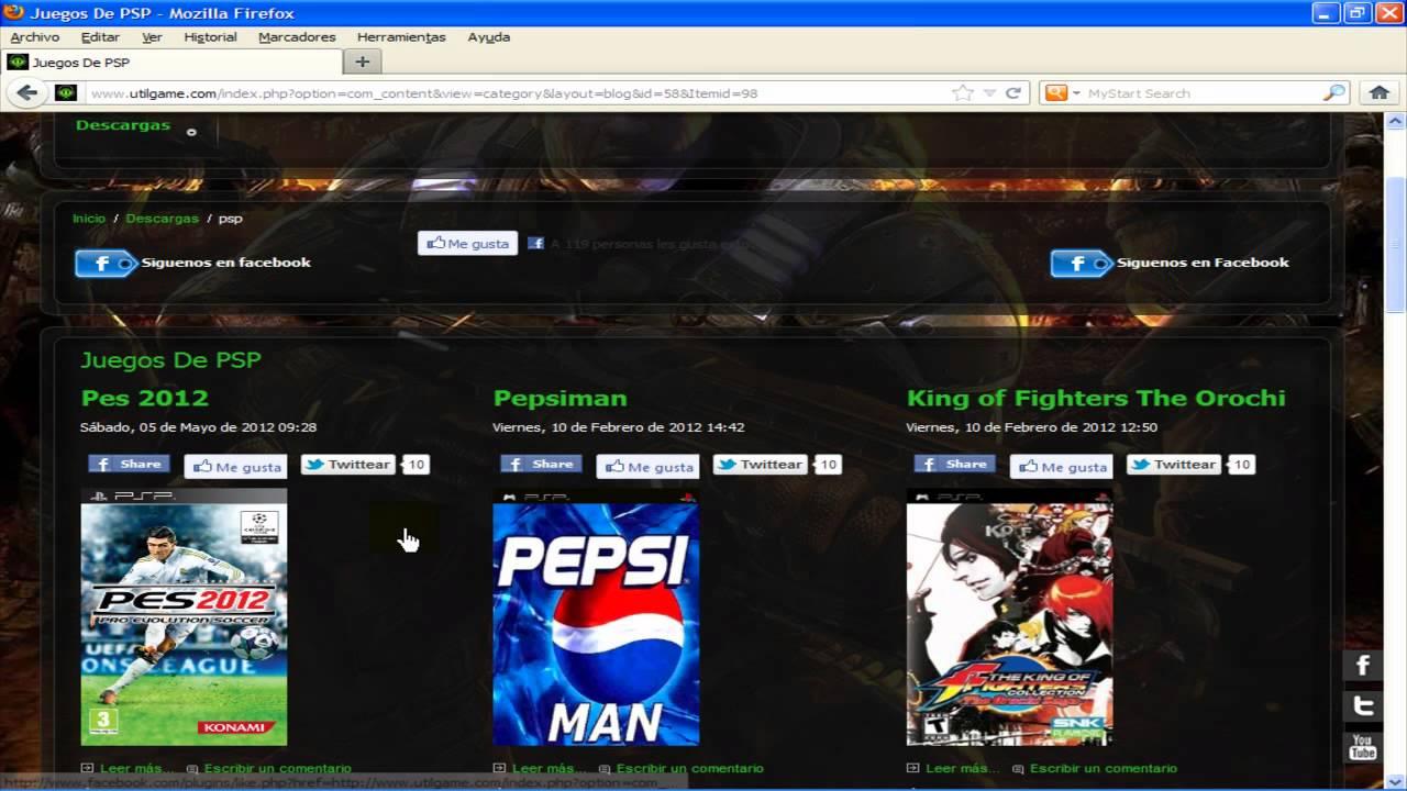 Descargar juegos para ppsspp