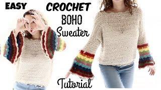 Spring boho sweater Easy Tutorial Part 1