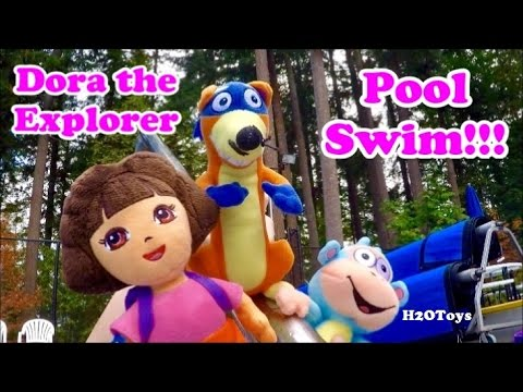 Dora the Explorer | UNDERWATER!!! Pool Swim Swiper Boots