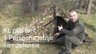 Kl pup tent/ legertent. Het tentje van defensie preppen en survival Nederland