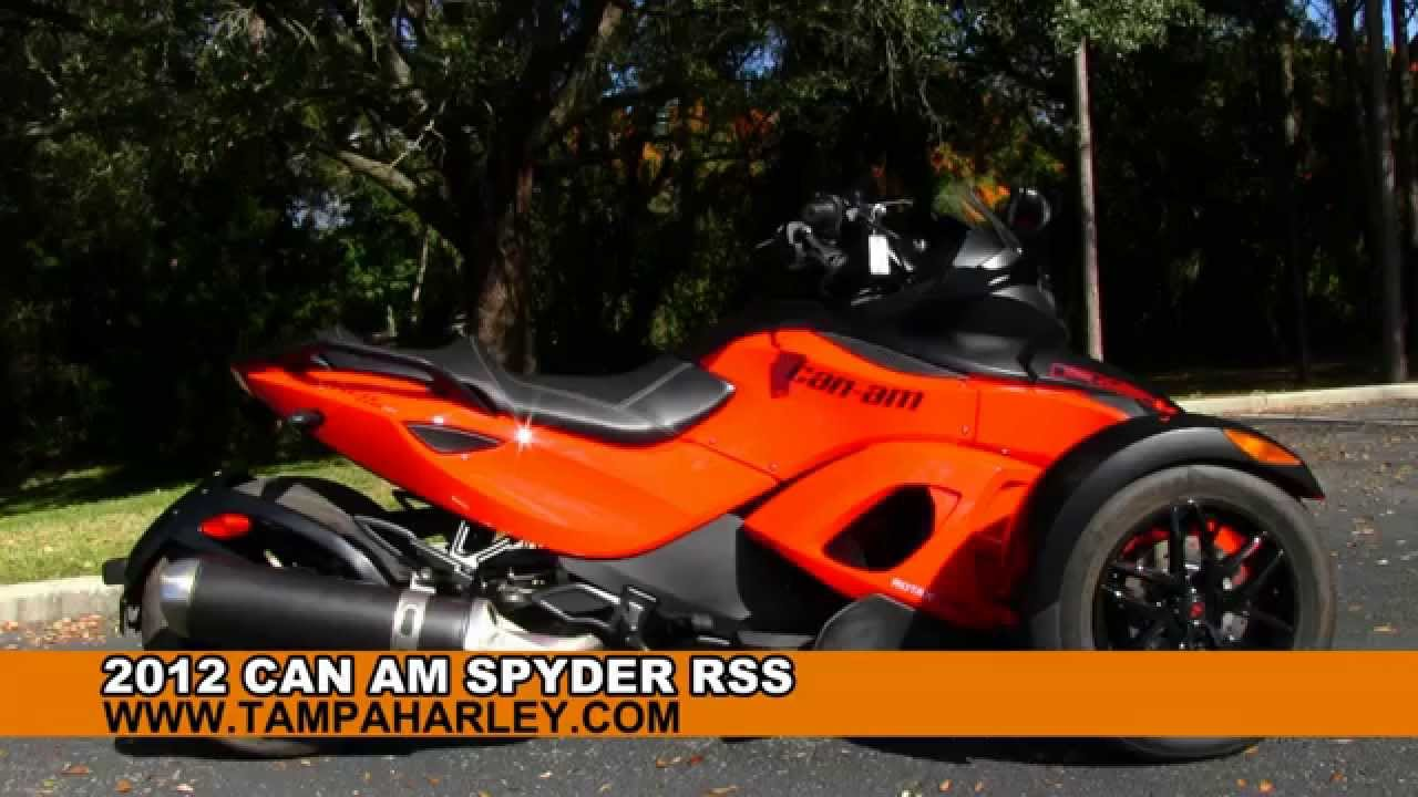 Can Am 3 Wheeler >> Used 2012 Can Am Spyder RSS 3 Wheeler for sale - YouTube