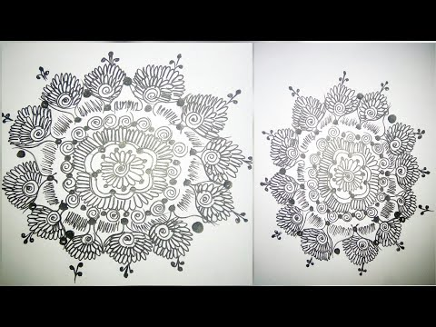 Most Beautiful mandala mehndi sketch design tutorial thumbnail