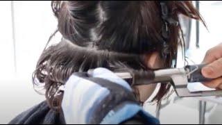 コテパーマ+デジタルパーマ やり方 ・癖毛 に ストカール やり方