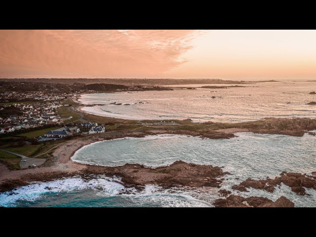 GUERNSEY COASTLINE Drone Footage 4k | Cinematic Screensaver and Relaxing Music