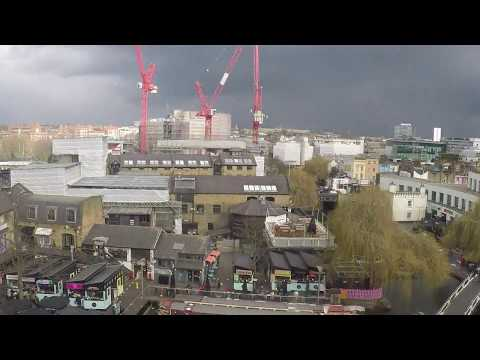 27 FEB 18 Camden town - London - Time laps crazy 4h weather SNOW