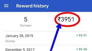 Earn upto ₹3951 per hour || Google opinion rewards || Google survey || #TECH