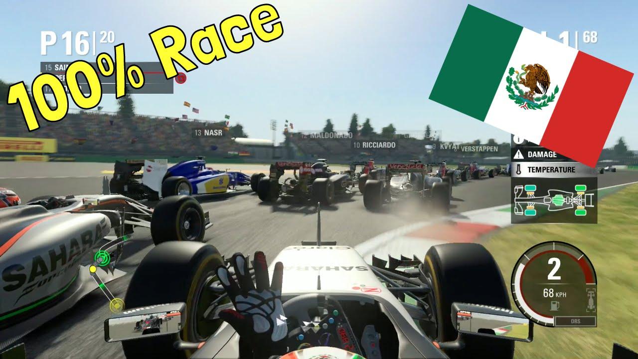 Download F1 2015 - 100% Race at Autódromo Hermanos Rodriguez, Mexico w/ Perez' Force India