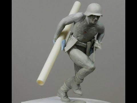 Sculpting 1/16 German SS soldier part 1