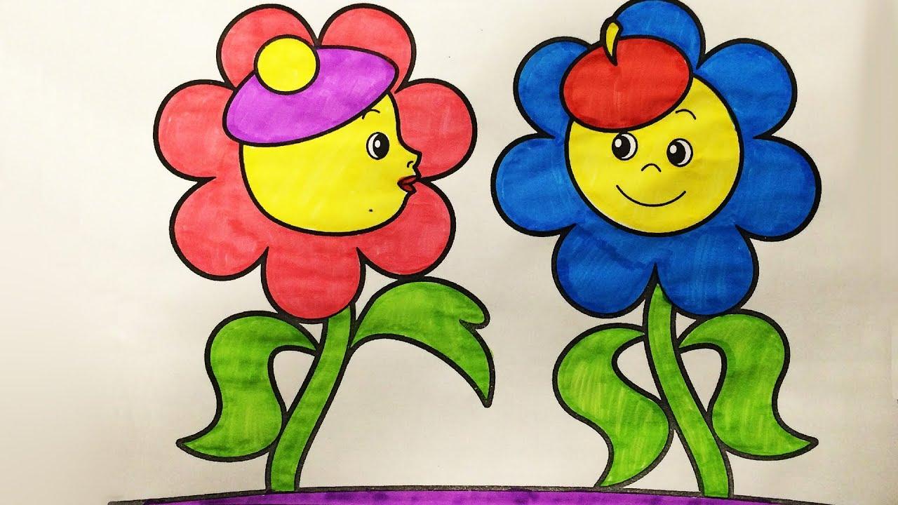 """Раскраски для детей """" Ожившие цветы """" (Эмилия) Обучающее ..."""