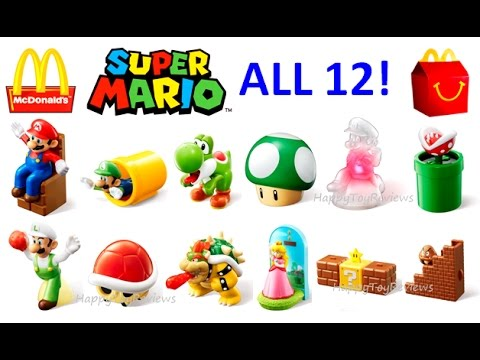 All 12 World Set 2017 Mcdonalds Super Mario Happy Meal Toys Nintendo Kids Collection Unboxing Uk Jp You