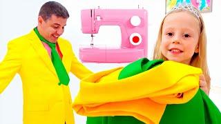 Stacy como uma princesa indo a um baile