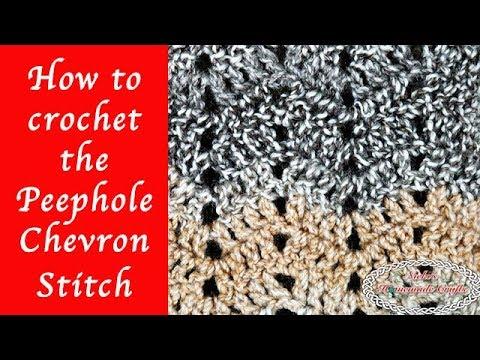 How To Crochet The Peephole Chevron Stitch For The Hazel Chevron