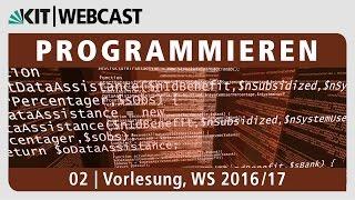 02: Programmieren, Vorlesung, WS 2016/17