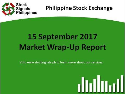 Market Wrap-Up Report - Philippine Stock Exchange – 15 September 2017
