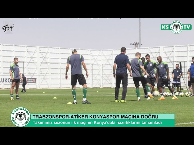 Atiker Konyaspor'umuz Trabzonspor maçının Konya'daki son çalışmasını yaptı
