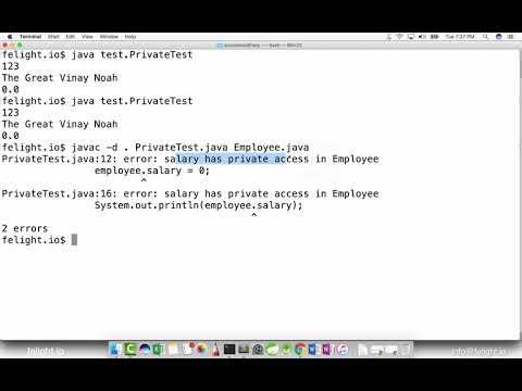 [Core Java] Private Access Modifier in Java