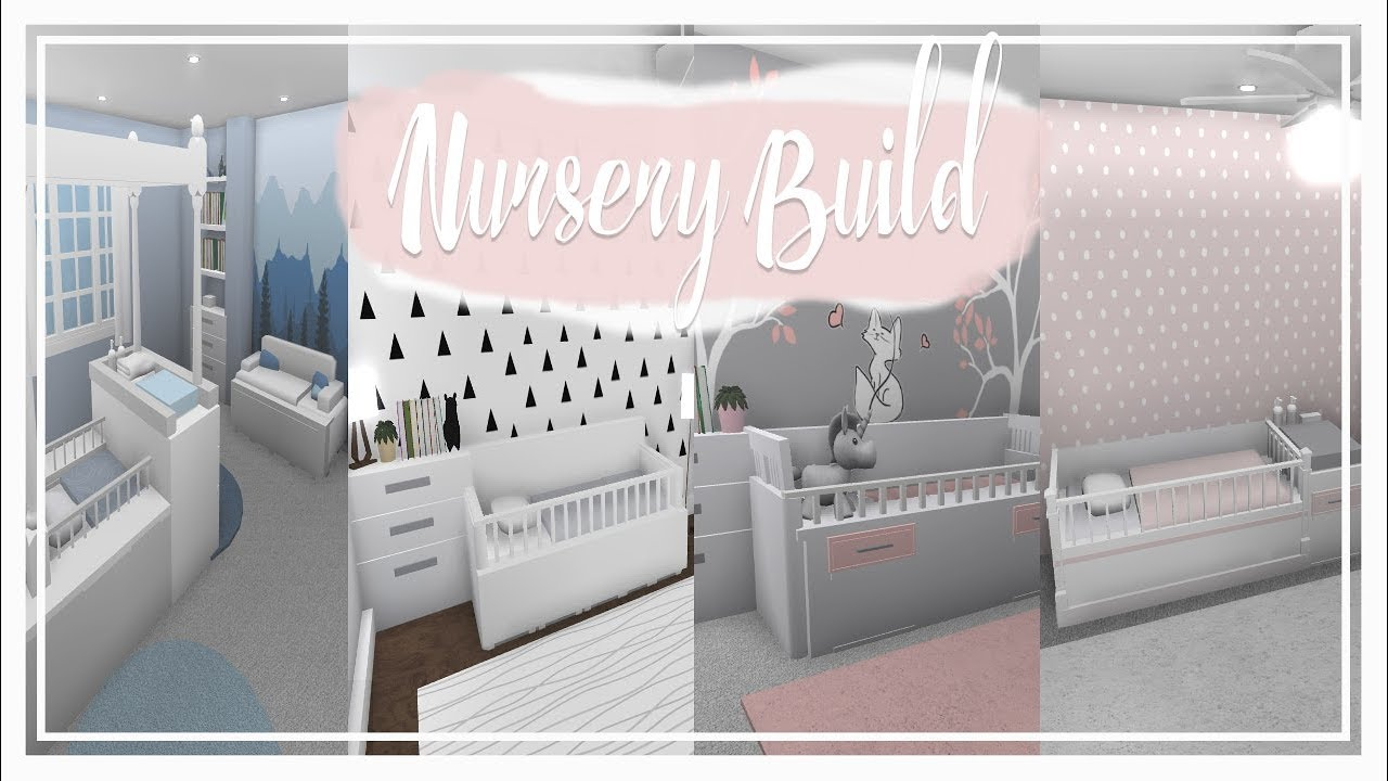 Bloxburg || Furniture Build | Nursery Rooms (w/cribs) - YouTube