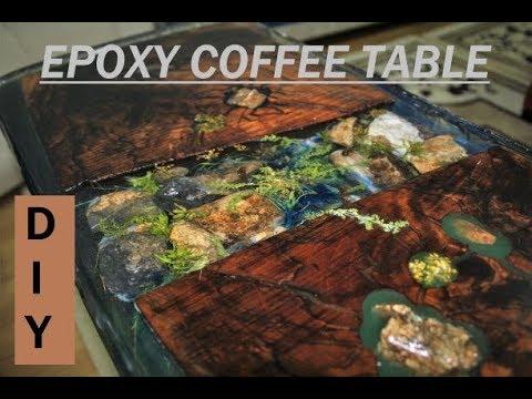 Epoxy COFFEE Table-Epoksi Kahve Sehpası-Epoxy KAFFEE Tisch